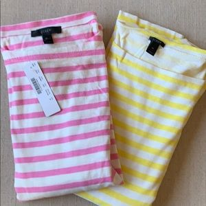 J. Crew Duo Of Striped Shirts